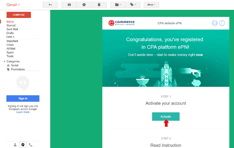 AliExpress ePN Email Confirmation