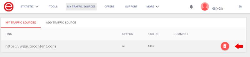 AliExpress ePN - Traffic Source Moderation Queue