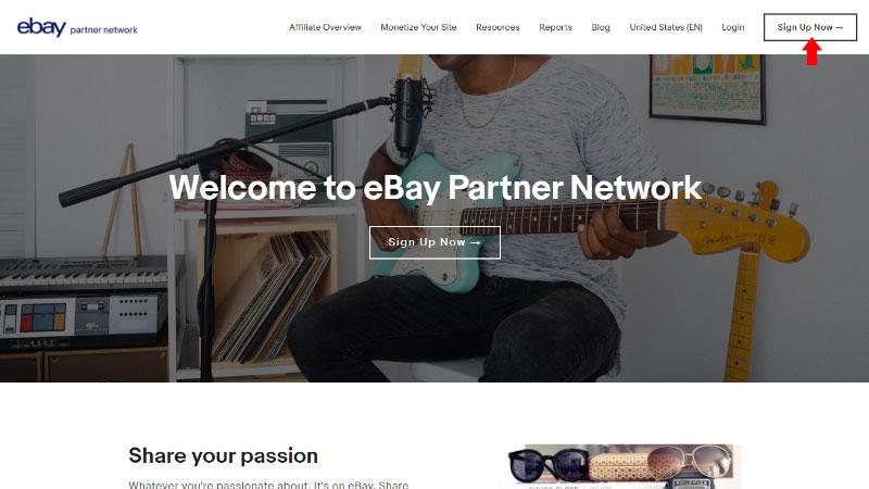 eBay Partner Network Registration - Sign Up Now