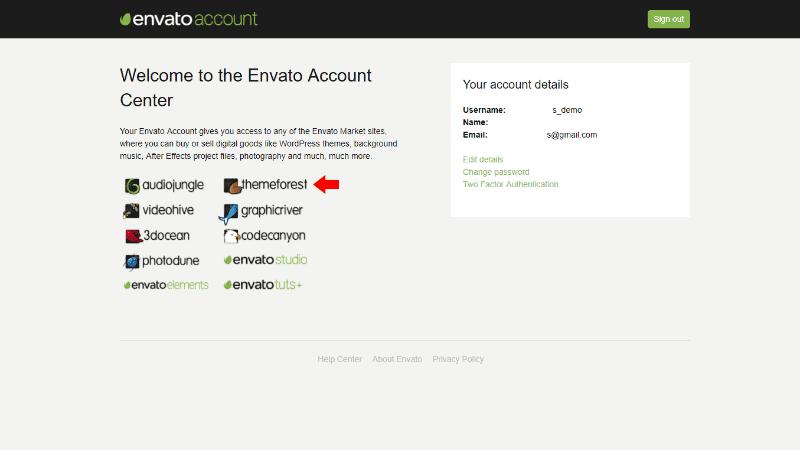 Envato Account Dashboard
