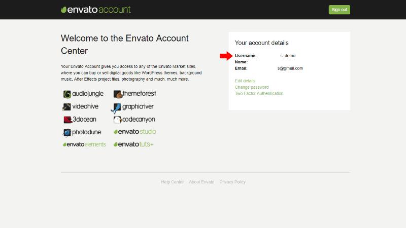 Envato Username